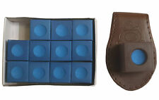 John West Billard Kreidehalter Braun + 12 Stück Kreide - Setangebot