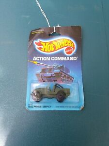 Hot Wheels Action Command Roll Patrol Jeep CJ 1:64 MOC 1986 new old stock
