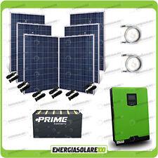 Kit solare fotovoltaico 1.5KW Inverter onda pura Edison30 3KW regolatore 24V PWM