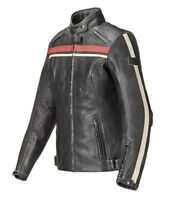 Triumph Raven Ladies Black Leather Motorcycle Jacket NEW MLLS17309
