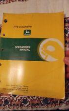 John Deere Cts Ii Combine Operators Manual