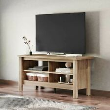 Farmhouse TV Stand for 55 inch Flat Screen, Living Room Storage Shelves