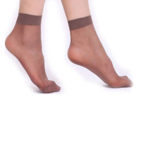 10 Pairs Women Ankle Socks Sexy Fashion Elastic Silky Short Silk Stockings New