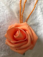 Marabou  feather/ bead button holes/corsage flowers roses wedding prom only £1.