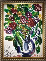 Margarita Bonke Malerei A3 PAINTING art abstrakt abstract Blumen flower kunst A3