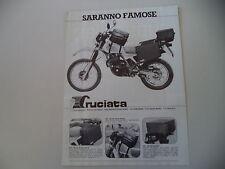 advertising Pubblicità 1984 CRUCIATA e HONDA XL 500 R