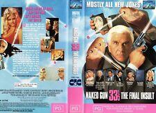 NAKED GUN 33 and a THIRD - VHS - PAL - NEW - Never played! - Original Oz release