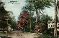 Wallingford CT Christian St. c1910 Postcard