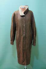 Vintage Lamm Fell Mantel  ca XL-XXL braun Leder echt shearling leicht dünn*
