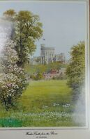 """NIB Windsor Castle From the Broca's by Alfred R Quinton, Matted 12"""" x 16"""""""