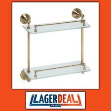 Glasablage 2 Ablage 400x420x120mm Glas Bronze Badartikel Bad Zubehör Lagerdeal