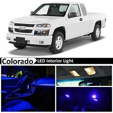 12x Blue LED Light Interior Package Kit for 2004-2012 Chevy Colorado
