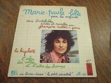 45 tours livre disque le petit menestrel presente MARIE-PAULE BELLE
