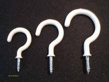 """36 Pieces White Pvc Cup Hooks Plant Hangers 12 pcs Each 1 1/4"""" 1 1/2"""" & 2"""" New"""