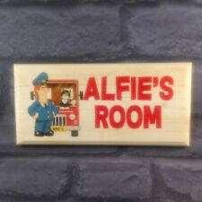 Personalised Postman Pat Bedroom Door Sign, Custom Childrens Kids Room Plaque