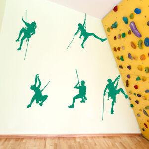 5 Climbers Set Colourful Vinyl Wall Window Stickers Decals Fun Kids Decor A124