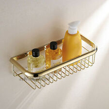 Gold Polished Bathroom Over Bath Tray Rack Storage Basket Shower Caddy Shelf
