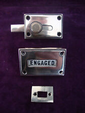 Antique rose brass vacant engaged bathroom /toilet lock