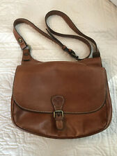 PATRICIA NASH Tan Italian Leather Heritage London Saddle Bag Crossbody Purse