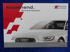 Audi S line selection - Q3 A4 A5 A6 A7 - Prospekt Brochure 04.2013