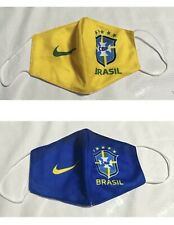 Brazil national football team face mask- soccer, cotton