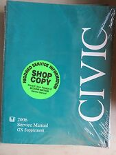 2006 Honda Civic GX Supplement Service Repair Manual Dealership Workshop