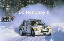 Ari Vatanen Peugeot 205 Turbo 16 Winner Swedish Rally 1985 Photograph 1