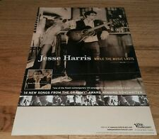 JESSE HARRIS While The Music Lasts VERVE FORECAST Promo music poster Rare htf