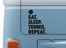 EAT SLEEP TENNIS REPEAT VINYL DECAL wimbledon Tennis sticker camper VW van badge