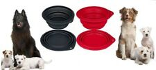 Dog Collapsible Folding Silicone Soft Rim Travel Bowl Portable Food Water Dish