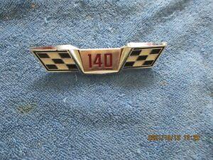 NOS 1965 CHEVROLET CORVAIR 140 TRUNK EMBLEM-CASTING NUMBER 3872038