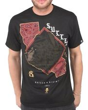 Sullen Art Collective Mens Grizzle Grizzly Bear Black California T-Shirt NWT