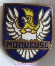 IN10179 - INSIGNE La MOQUEUSE, Aviso Dragueur, bleu, oiseau plat
