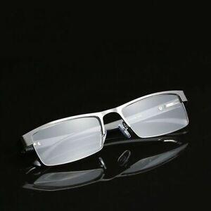 Mens Reading Glasses Rectangular Business Metal Readers +1.0 1.5 2.0 2.5 3.0 3.5