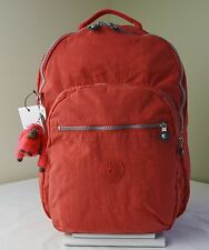 Kipling BP3020 Tomato Red Seoul Backpack with Laptop Protection