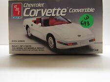 AMT 1:25 Scale Chevrolet 1991 Corvette Convertible Model Kit - New - Kit # 6144
