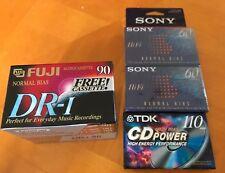 Fuji 90 Tdk 110 Sony 60 Hi Fi Tapes Audiocassette Lot 9 Tapes