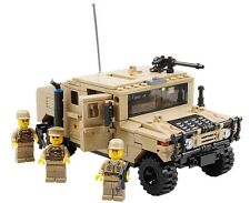 Military Hummer H1 Jeep c/w Army Figures Compatible Building Bricks 420pcs UK