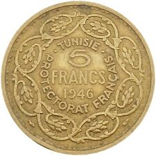Tunisia French Colony 5 Francs 1946-1365 KM#273 (4642)