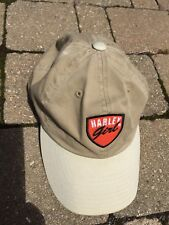 Harley Davidson Motorcycle Harley Girl Tan Baseball Woman's Hat Cap Adjustable