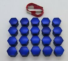 SEAT IBIZA LEON ALTEA EXEO CORDOBA BLUE WHEEL NUT BOLT COVERS CAPS 17mm x 20