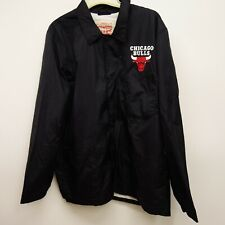 Levi's Size XL Mens NBA Club Coat Button Up Chicago Bulls Windbreaker Jacket