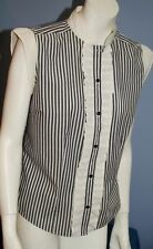 Polycotton Collared Classic Striped Tops & Shirts for Women