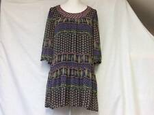 "NEW LOOK PRETTY LINED CHIFFON SHORT DRESS LONG TOP LADIES 10 CHEST 36"" TEEN GIRL"
