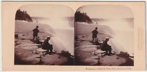 Langenheim : Niagara Falls from American Side New York 1858 SV Stereoview Photo