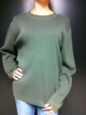 Royal Robbins Sweater Hunter Green Cotton Long Sleeve Size L Large Orange Trim