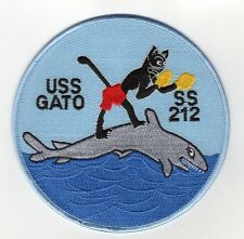 USS Gato SS 212 - Cat w/ Boxing Gloves BC Patch Cat No B518