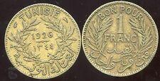 TUNISIE   1 franc  1926  1344