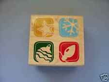 INKADINKADO RUBBER STAMPS CHRISTMAS BLOCK STAMP RETIRED LAST ONE