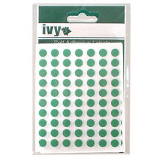 490 8mm Green Self Adhesive Round Dot Labels - 232700 - Made In The UK By Ivy